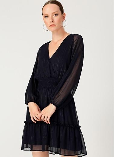 Random Elbise Lacivert